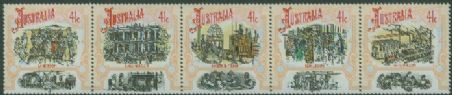 AUS SG1264a Colonial Development (3rd series), Boomtime strip of 5